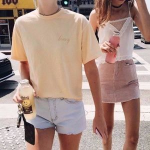 Honey Brandy Melville Yellow Shirt